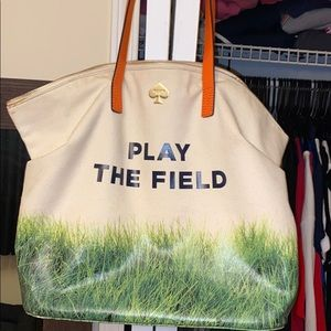 Call to action. Play the field Kate Spade tote